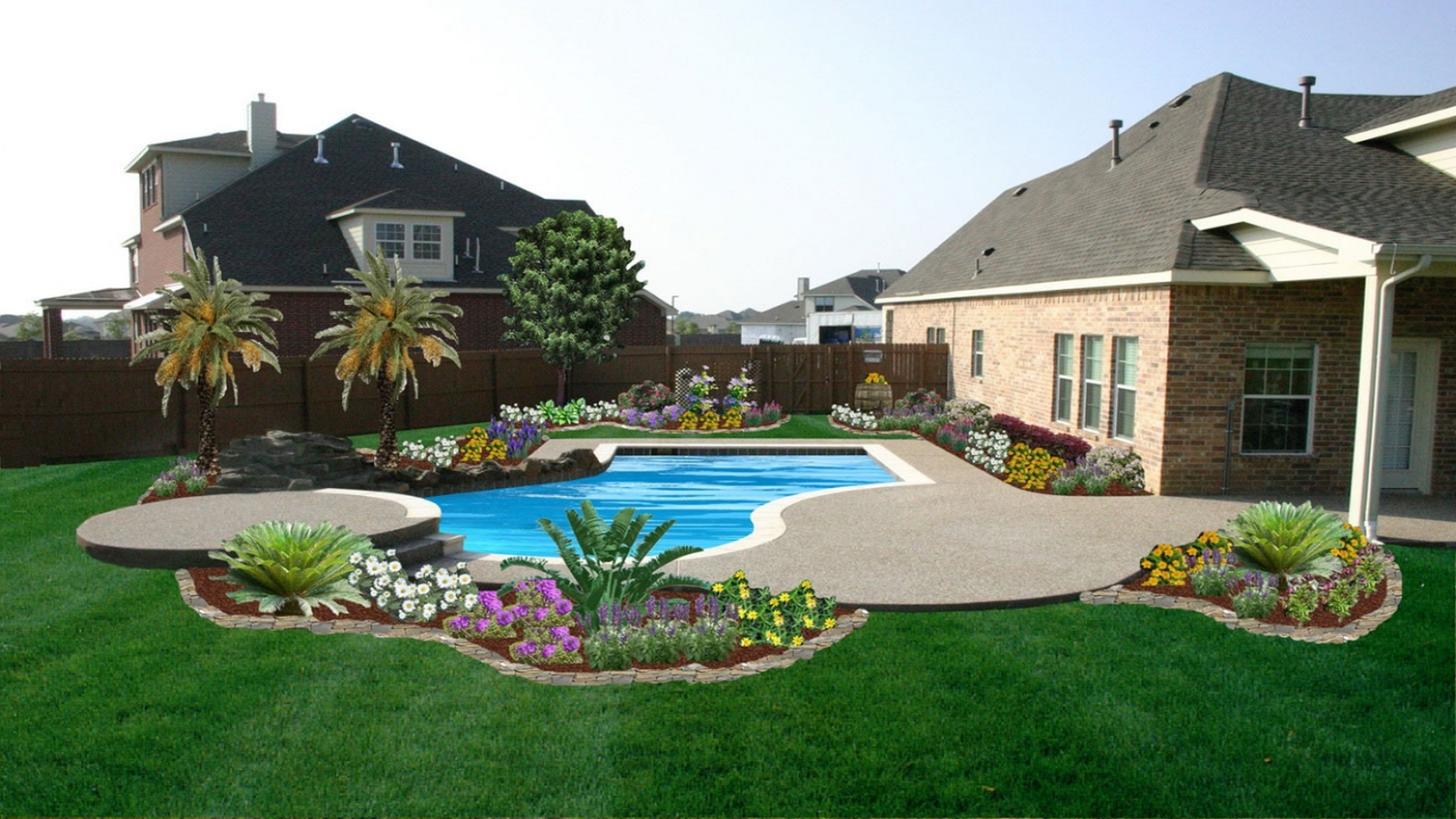 Backyard Ideas Divine Landscaping Large Areas Modern ... on Big Backyard Landscaping Ideas id=84373