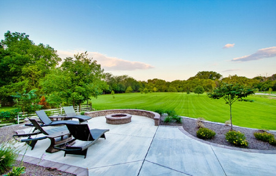 Stamp Concrete Patio Ideas Backyard With Cool Concrete ... on Cool Backyard Patio Ideas id=15928