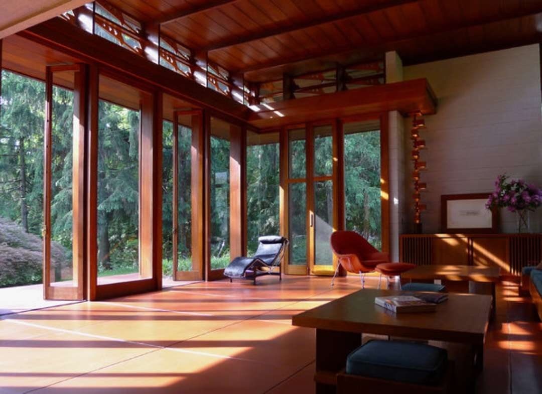 Frank Lloyd Wright Interiors Homedesignboard | Frank Lloyd Wright Stairs | Exterior | Farmhouse | Gordon Strong | Bedroom | Wife