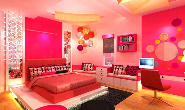 20 Pretty Girls' Bedroom Designs | Home Design Lover on Pretty Rooms For Teenage Girl  id=64538