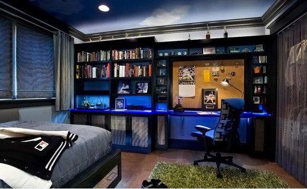 20 Teenage Boys Bedroom Designs   Home Design Lover on Rooms For Teenage Guys  id=25525