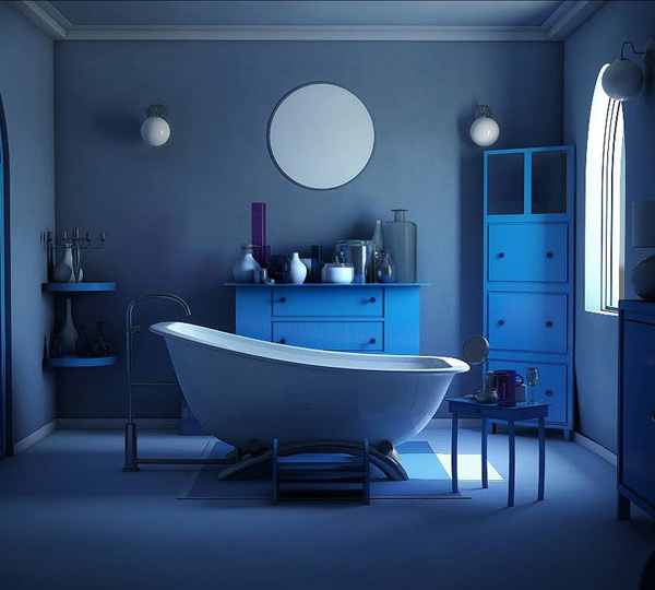 18 cool and charming blue bathroom designs home design lover on blue paint bathroom ideas exterior id=65983