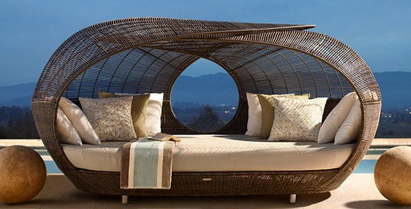 Make Outdoor Living Comfy with 15 Rattan Daybeds   Home ... on Belham Living Lilianna Outdoor Daybed id=57473