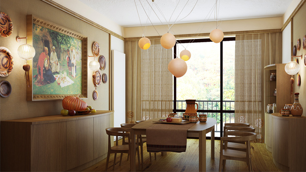 15 Gorgeous Dining Room Curtains | Home Design Lover on Dining Room Curtains Ideas  id=45799