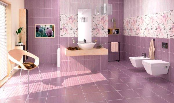 15 Creative Bathroom Tiles Ideas | Home Design Lover on Floral Tile Bathroom Ideas  id=65475