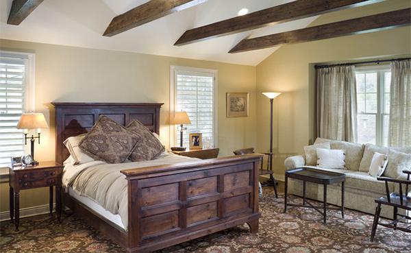 Exposed Roof Beams In 15 Bedroom Designs Home Design Lover
