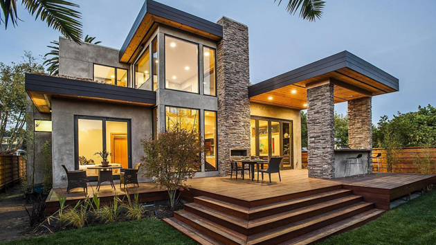 The Rustic Modern Design of Burlingame Residence in ...