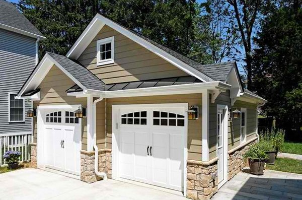 20 Traditional Architecture Inspired Detached Garages ... on Garage Door Color Ideas  id=61113