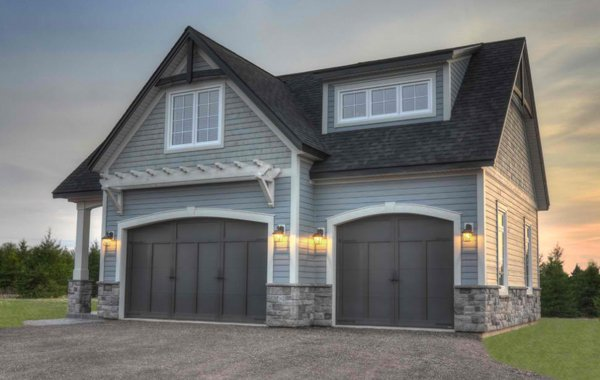 20 Traditional Architecture Inspired Detached Garages ... on Garage Door Colors Ideas  id=18867