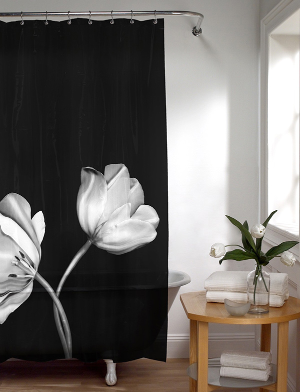 black and white shower curtain designs