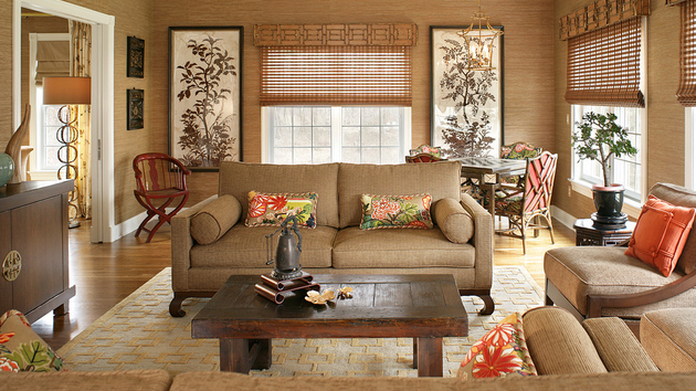 15 relaxing brown and tan living room