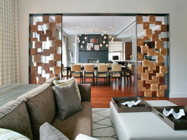 15 Beautiful Foyer Living Room Divider Ideas Home Design Lover   Partition Of Stairs In Living Room   Lobby   Storage   Open Plan   Divider   Wood Paneling