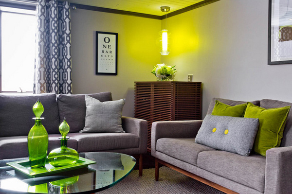15 Lovely Grey And Green Living Rooms Home Design Lover