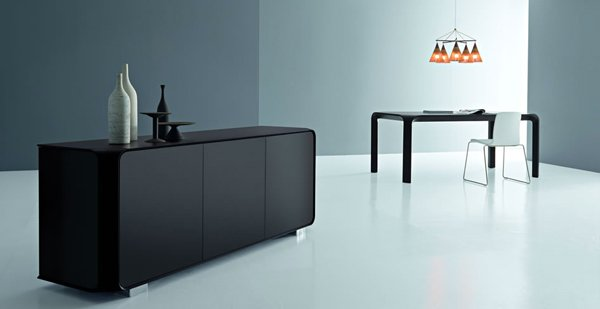Black Buffets And Sideboards Black Rustic Style Server