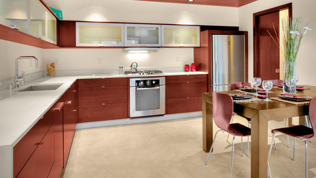 Shaped Kitchen Shown Here Has Three Distinct Zones Enough
