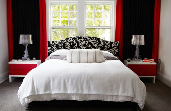 15 Pleasant Black White And Red Bedroom Ideas Home Design Lover