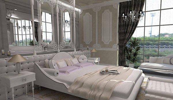 15 Modern Vintage Glamorous Bedrooms | Home Design Lover on Main Bedroom Decor  id=85515