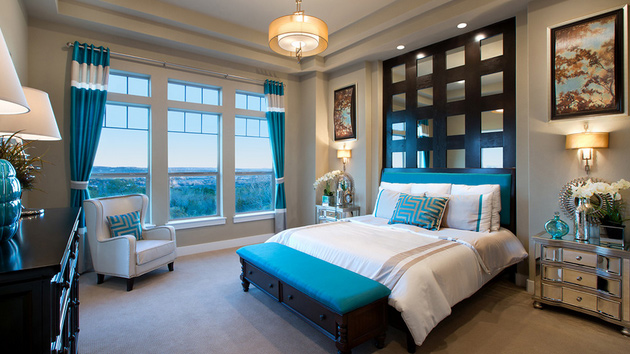 15 Beautiful Brown and Teal Bedrooms   Home Design Lover on Room Decir  id=20676