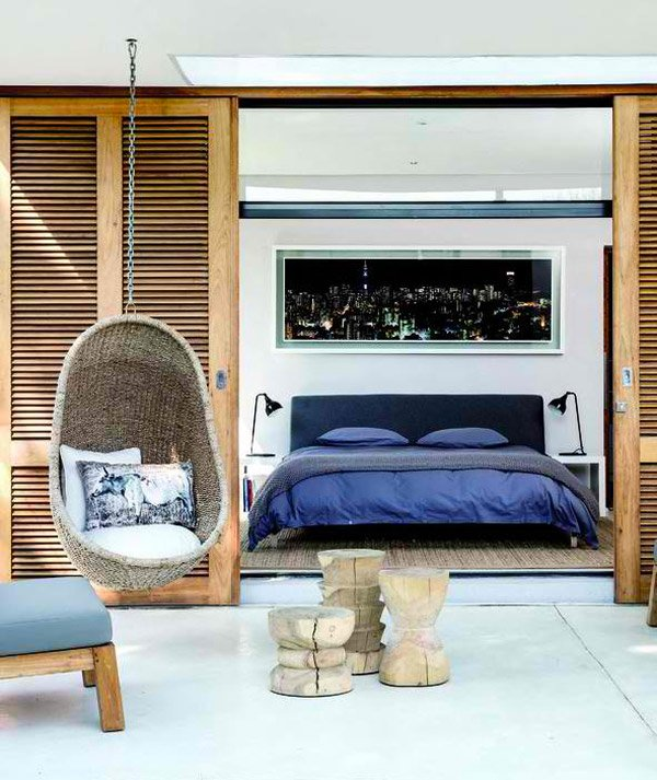 Bedrooms with Swing Chairs