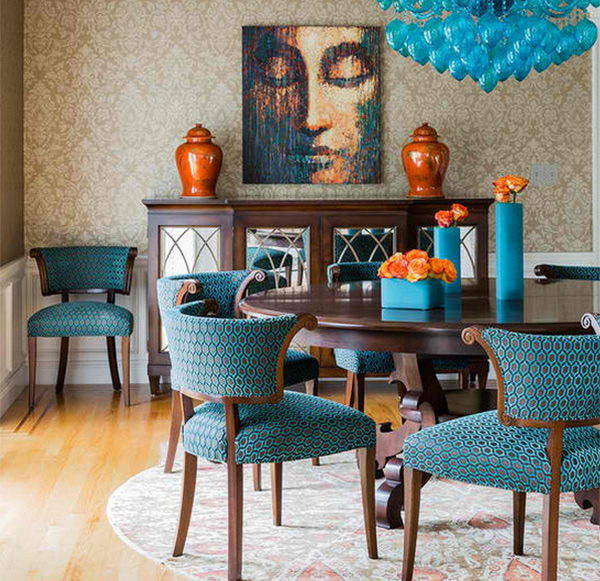 How To Get A Blue And Orange Dining Room Home Design Lover