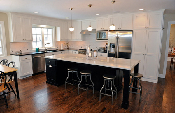 T Shaped Kitchen Layout
