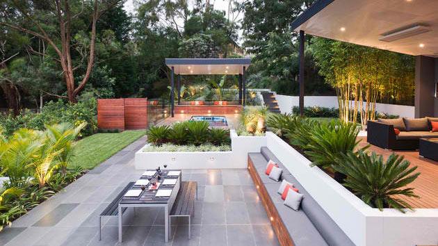15 Contemporary Backyard Patio Designs | Home Design Lover on Backyard Layout id=77712