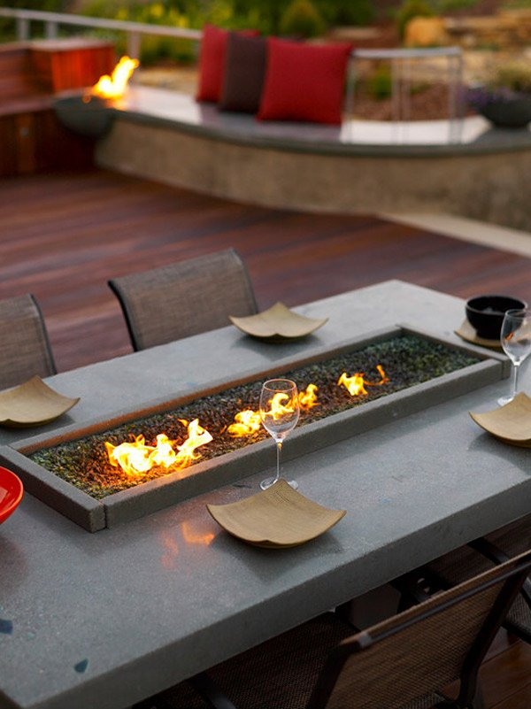 20 Fire Pit Designs for Your Gardens and Patios | Home ... on Outdoor Dining Tables With Fire Pit id=79636