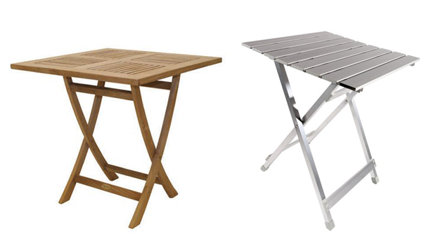 20 square folding outdoor dining tables