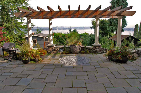 20 Lovely Ideas for Landscaping with Pavers | Home Design ... on Yard Paver Ideas  id=84216