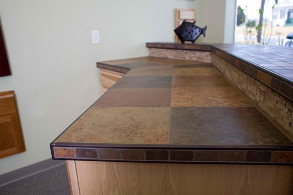simple tile kitchen countertops