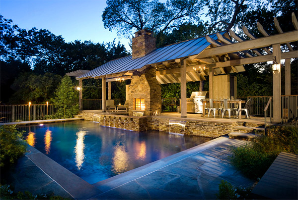 20 Ideas to Show off a Well-Decorated Patio   Home Design ... on Pool Patio Design id=57761