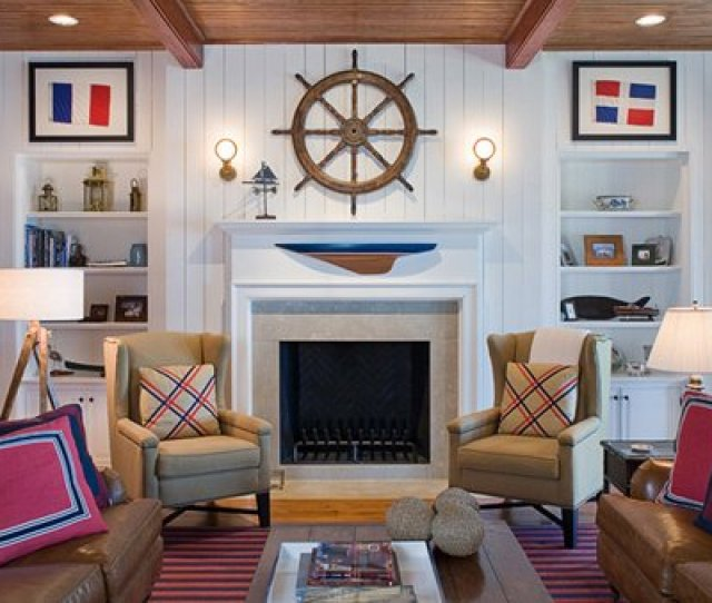 Nautical Home Decorations In The Living Room Home Design Lover