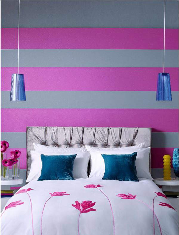 20 Trendy Bedrooms With Geometric Wallpaper Designs Home