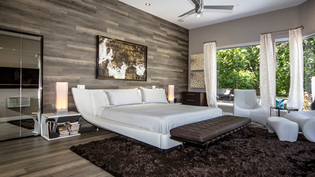 20 Fantastic Bedrooms with Pallet Walls | Home Design Lover on Pallet Room Ideas  id=43807