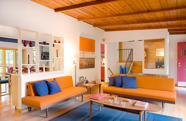 23 Fruity Orange Sofa Living Room Home Design Lover