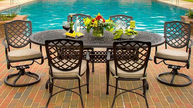 patio furniture from cast aluminum