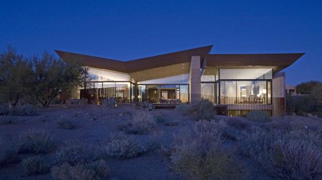 Unique Contemporary Minimalist Desert Wing In Arizona