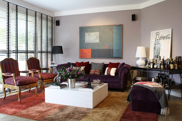 20 Engrossing Purple Sofa In The Living Room Home Design Lover