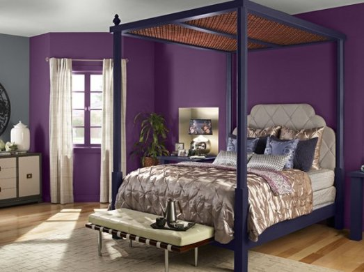20 Pleasant Purple and Gold Bedrooms   Home Design Lover Purple and Gold Bedrooms