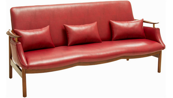 20 ravishing red leather living room
