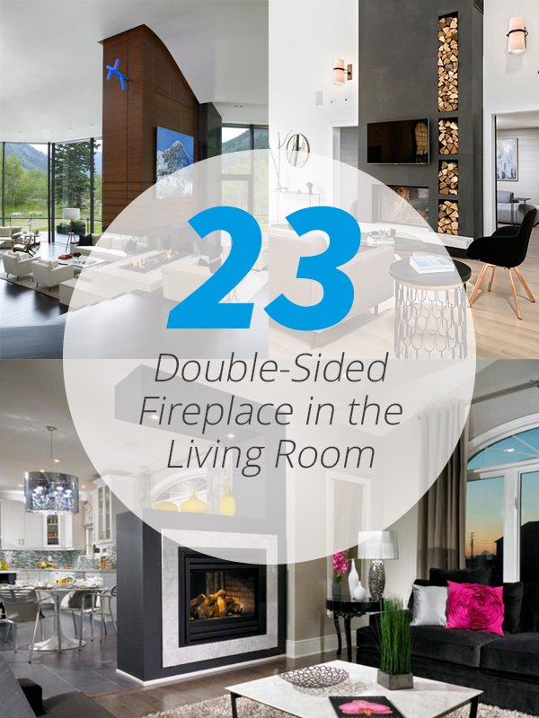 23 Double Sided Fireplace Designs In The Living Room Home Design Lover