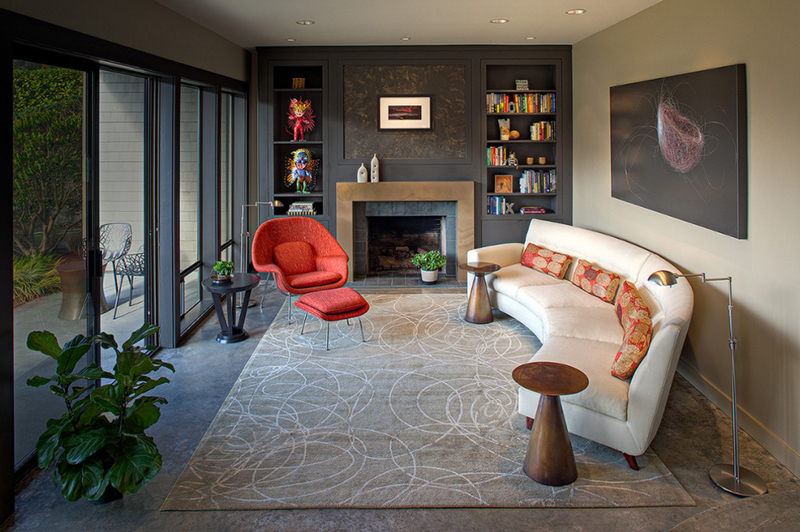cool curved couches in the living room