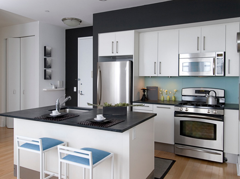 20 Contemporary Black Countertops in the Kitchen   Home ... on Black Countertops  id=69717