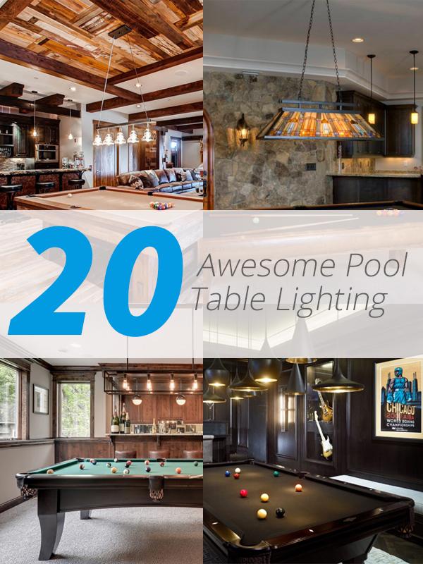 20 awesome pool table lighting home