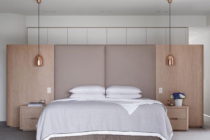 master bedroom in symmetry