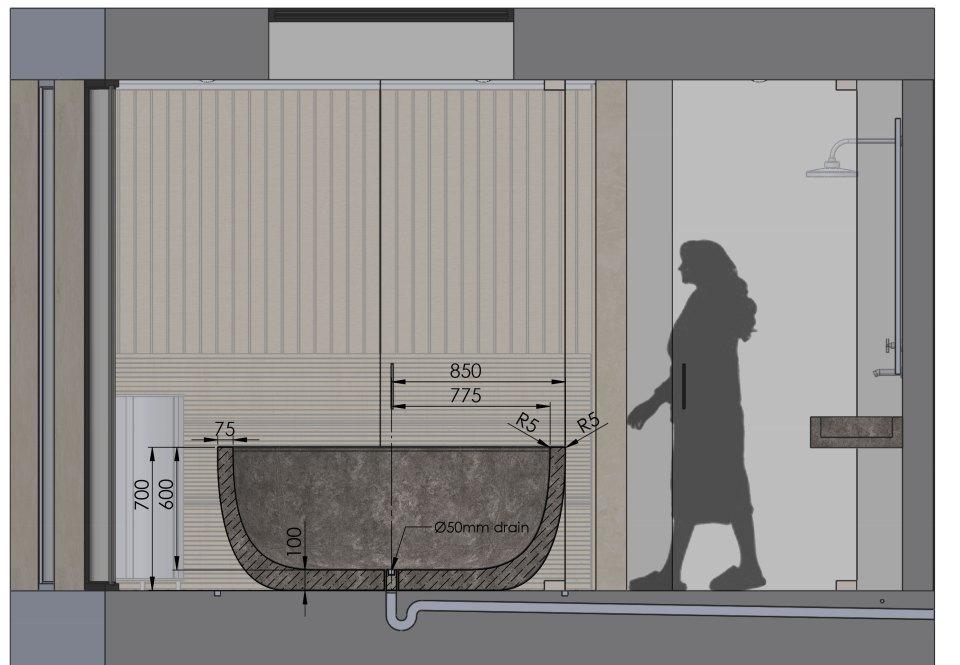 Bath Section Detail