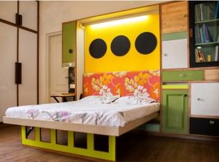 Indian home tour Neha Guest Bedroom Murphy Bed 1