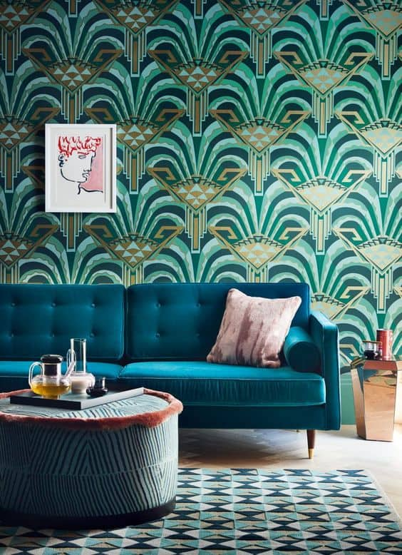 Art Deco. This is home decor and interior trends forecast for 2019 for the best colors, furniture design, wall decoration and flooring most popular styles this year!