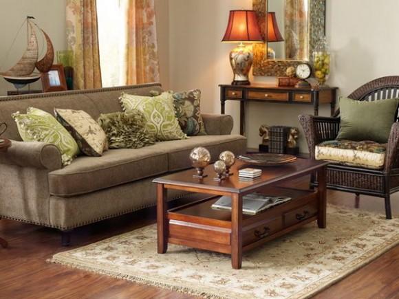Dark Brown And Green Living Room Novocom Top