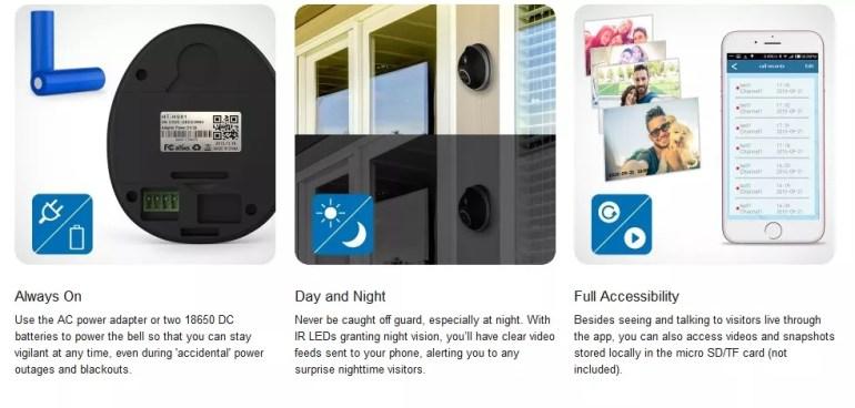 wifi video doorbell